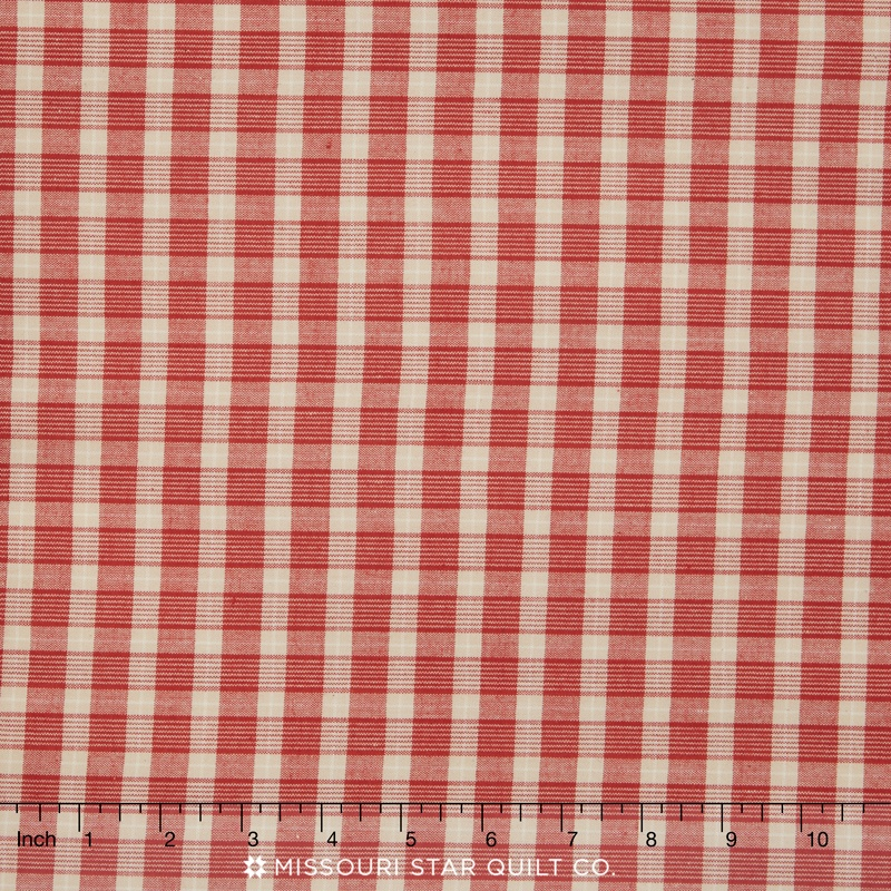 petite cotton woven rouge plaid yardage french general. Black Bedroom Furniture Sets. Home Design Ideas