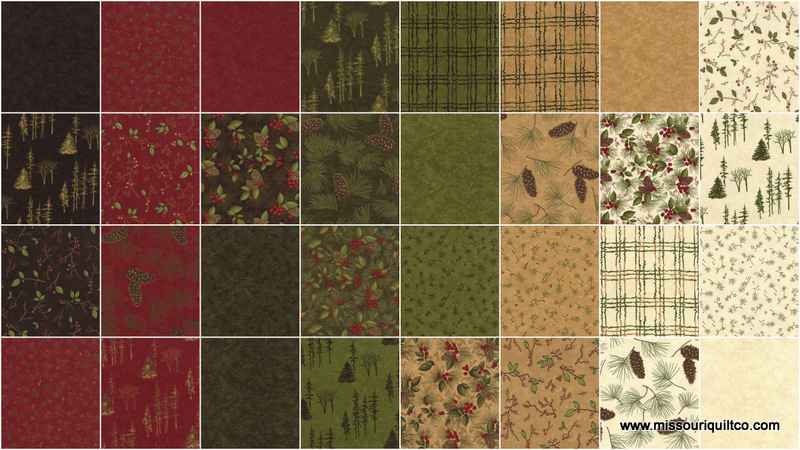 Through the winter woods fat quarter bundle holly taylor moda