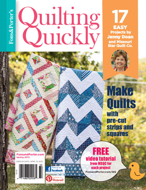 Quilting Quickly Bookazine - Spring 2013