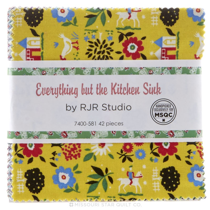 everything but the kitchen sink fabric everything but the kitchen sink 2016 charm pack rjr 9649