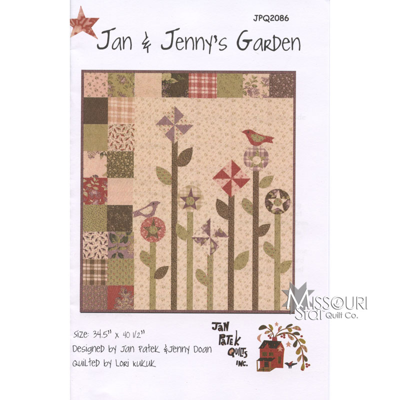 Jan jenny 39 s garden jan patek quilts missouri star for Gardeners supply company catalog