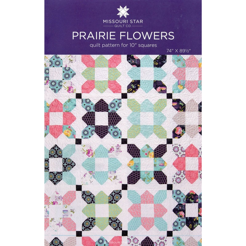 Free Star Flower Quilt Patterns : Prairie Flower Pattern by MSQC - MSQC - MSQC Missouri Star Quilt Co.