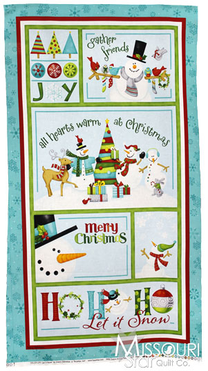 Ho Ho Ho Let It Snow - Ho Ho Ho Aqua Panel