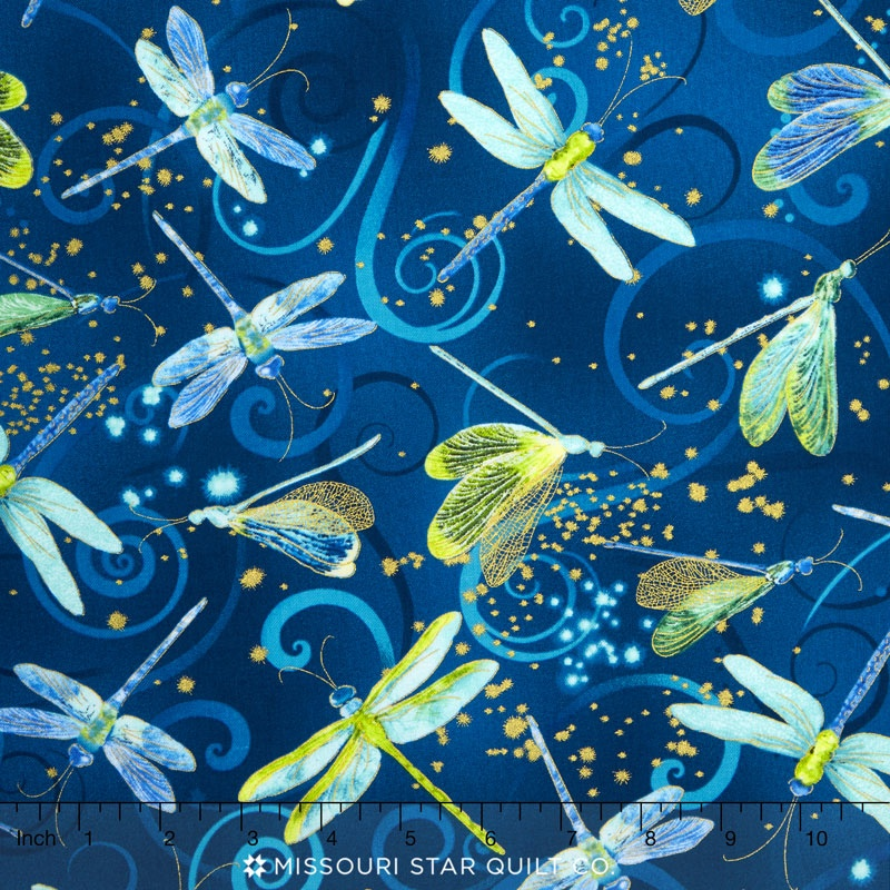 Dance Of The Dragonfly Dancing Dragonflies Midnight Blue