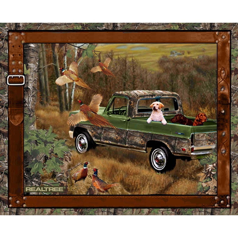 Realtree Golden Dog Panel Realtree Licensed Products