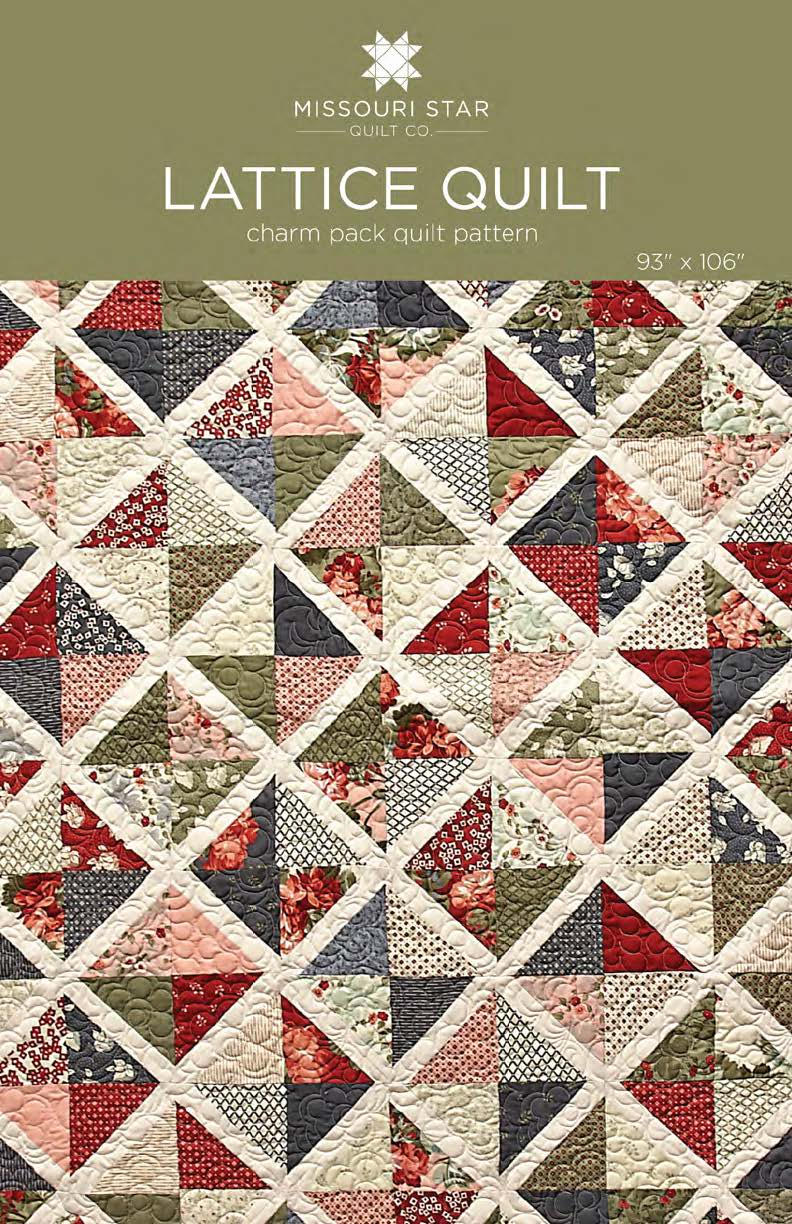 Digital Download Lattice Quilt Pattern Msqc