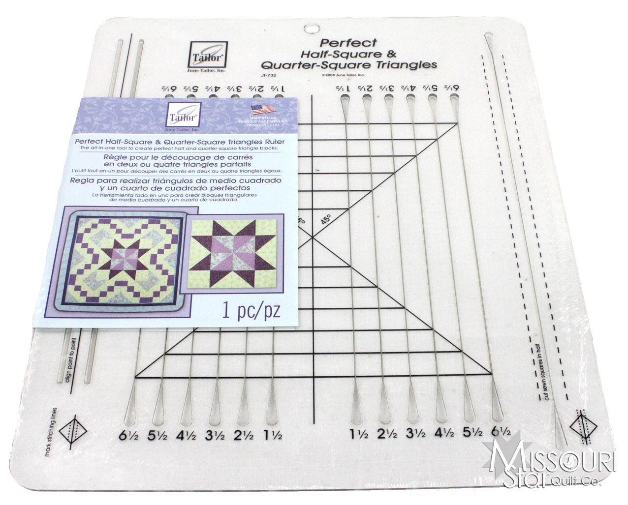 Perfect Half Square Amp Quarter Square Triangles Ruler