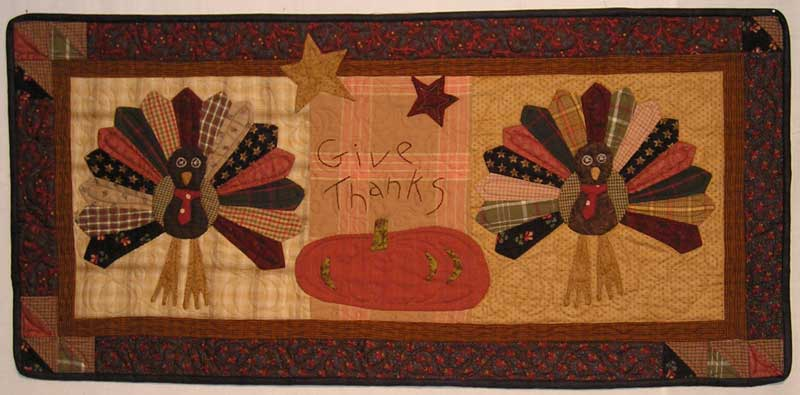 Dresden Turkey Mini Quilt Wall Hanging Pattern Jan