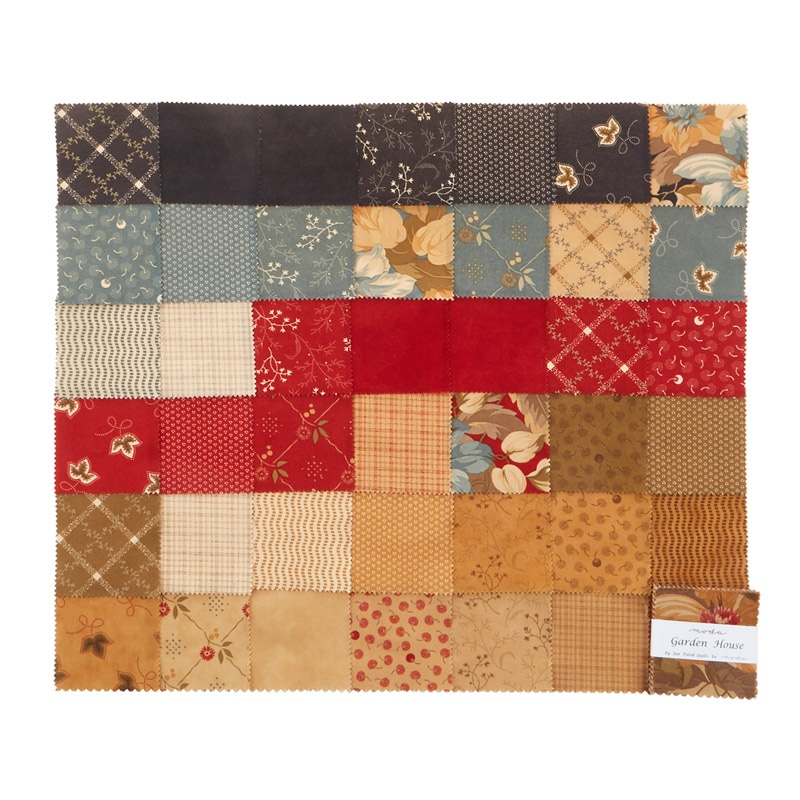 Garden House Mini Charm Pack Jan Patek Quilts Moda Fabrics Missouri Star Quilt Co