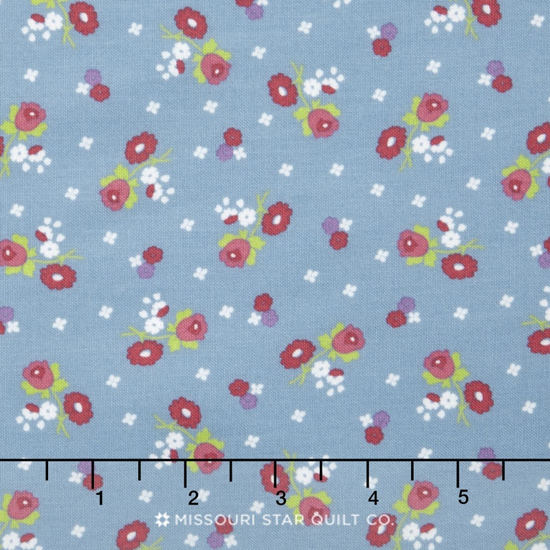Anne Of Green Gables Anne Blossoms Blue Yardage Riley