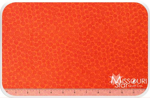 Sunflower Daze - Swirl Orange Yardage