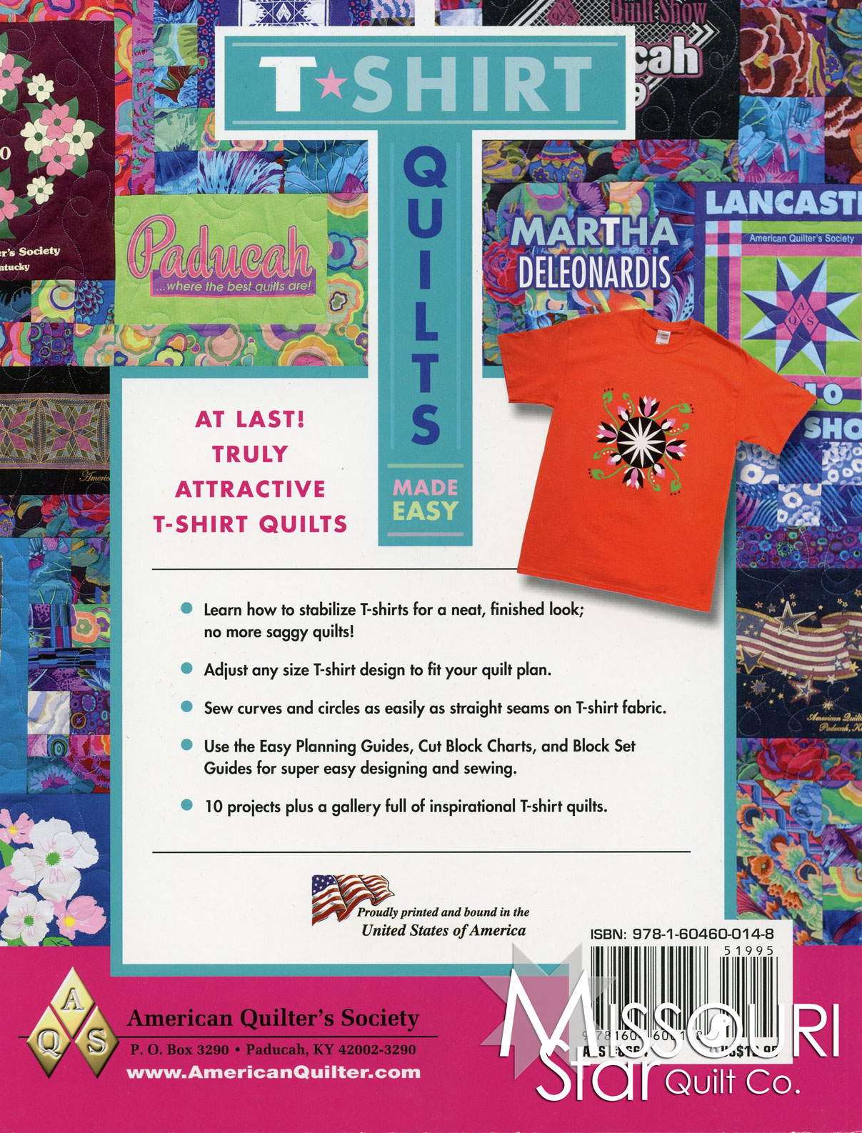 T Shirt Quilt Pattern Book : T-Shirt Quilts Made Easy Book - American Quilter s Society