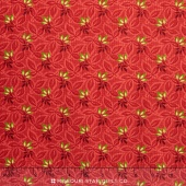 Songbird Christmas - Sprigs Red Yardage