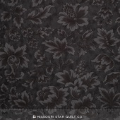 "Midnight Clear  - 108"" Jacobean Damask Midnight Wide Backing"