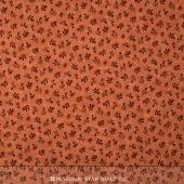 Sunflower Song - Floral Duet Pumpkin Yardage