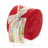 Bella Solids Christmas Red Junior Jelly Roll