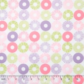 Cozy Cotton Flannels - Pastel Rings Yardage