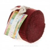 Bella Solids Burgundy Junior Jelly Roll
