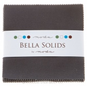 Bella Solids  Lead Charm Pack by Moda