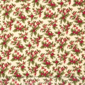 Under the Mistletoe -  Linen Yardage