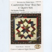 Carpenter's Star Bali Sky Revised Pattern