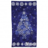 Stonehenge Blue Tree Starry Night Wall Hanging Kit with Lights