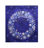 Stonehenge Blue Wreath Starry Night 2 Wall Hanging Kit with Lights