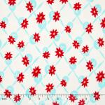 Miss Kate - Polka White Aqua Yardage