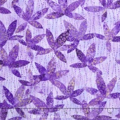 Artisan Spirit - Shimmer Echoes Pansy and Mineral Leaves Pansy Metallic Yardage
