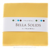 Bella Solids Buttercup Charm Pack by Moda