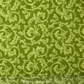 Songbird Christmas - Scroll Green Yardage