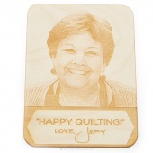 Happy Quilting! Love Jenny Wooden Postcard