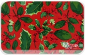 Poinsettia & Holly - Holly Mix Red Yardage