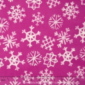 Garland - Snowflakes Grape Yardage