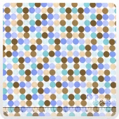 Snips and Snails - Snips Dots Blue Yardage