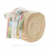 Bella Solids Parchment Junior Jelly Roll by Moda