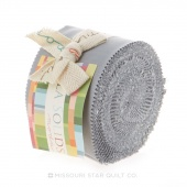 Bella Solids  Steel Junior Jelly Roll by Moda