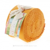 Bella Solids Cheddar Junior Jelly Roll by Moda