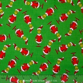 How the Grinch Stole Christmas 5 - Christmas Grinch Tossed Green Yardage