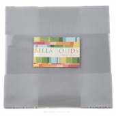 Bella Solids  Silver Junior Layer Cake by Moda