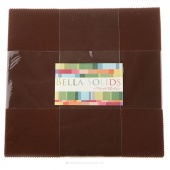 Bella Solids Moda U Brown Junior Layer Cake by Moda