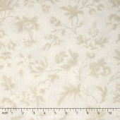 "Midnight Clear - 108"" Jacobean Damask Starlight Wide Backing"