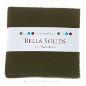 Bella Solids Pine Charm Pack by Moda