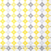 Cozy Cotton Flannels - Tiles Yellow Grey White Yardage