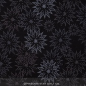 The Forever Collection - Snowflakes Light Ebony Yardage