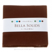 Bella Solids Moda Brown Charm Pack by Moda