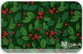 Poinsettia & Holly - Holly Green Yardage