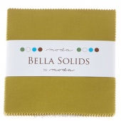 Bella Solids Fig Tree Olive Charm Pack by Moda