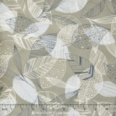 Flutter - Leaves Grey Yardage