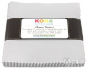 Kona Cotton Solids - Ash Charm Square